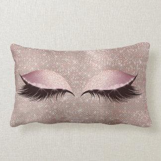 Augen-Peitschen-Glitter-Schwarz-bezauberndes Lendenkissen