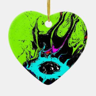 Augen-Spion 2 Keramik Herz-Ornament