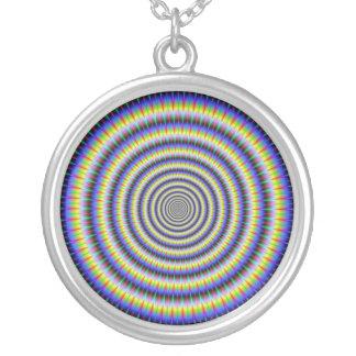 Augen-sprachlos seiende Kreis-Halskette Versilberte Kette