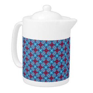 Augen-Süßigkeits-Kaleidoskop-    Muster-Teekannen