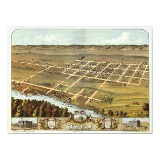 Augenansicht des Vogels von neuem Ulm, Minnesota Karte