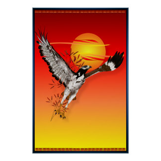 Augur, der die Morgensonne trifft. großes Plakat