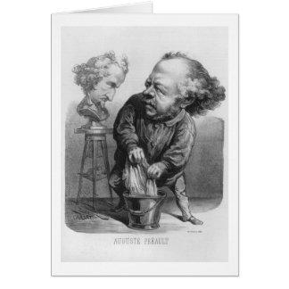 Auguste Preault (1809-79), Karikatur von 'Le Bou Karte
