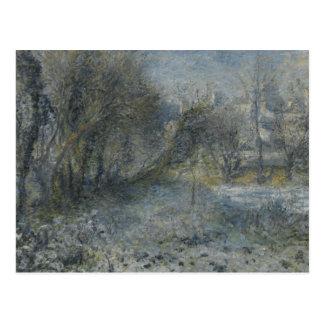 Auguste Renoir - schneebedeckte Landschaft Postkarte