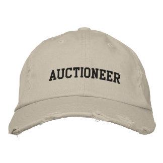 Auktionator gestickter Hut Bestickte Baseballcaps