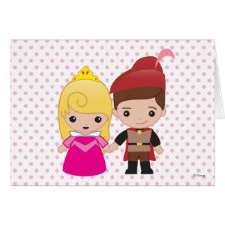 Aurora und Prinz Philip Emoji Karte