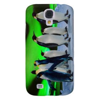 Auroraborealis und -Pinguine Galaxy S4 Hülle