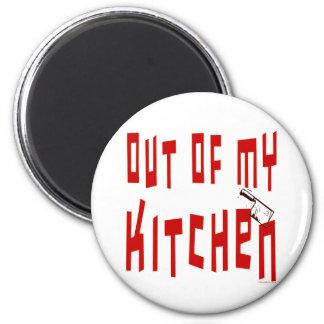 Aus meinem Küchen-lustigen Sprichwort-Magneten Runder Magnet 5,7 Cm