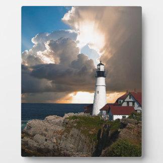 Ausblick-Leuchtturm Fotoplatte