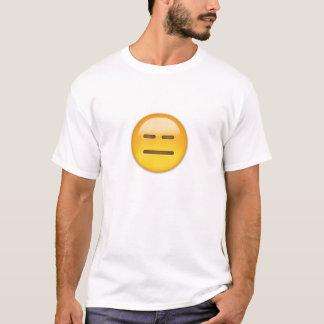 Ausdrucksloses Gesicht Emoji T-Shirt