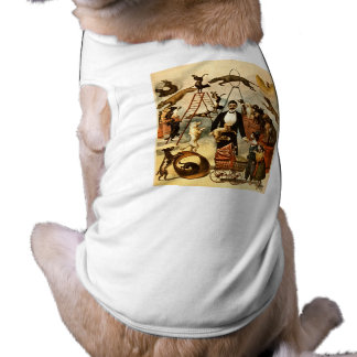 Ausgebildete Hundetat 1899 - Vintages Zirkus-Taten Ärmelfreies Hunde-Shirt
