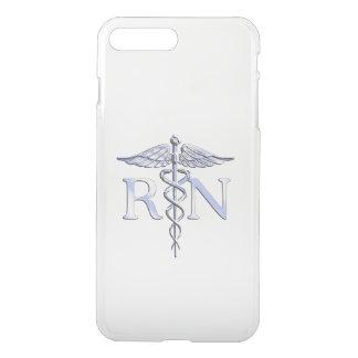 Ausgebildete Krankenschwester RN silberner iPhone 8 Plus/7 Plus Hülle