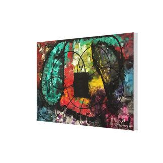 """""""Ausgedehnte"""" abstrakte ursprüngliche Malerei Leinwanddruck"""