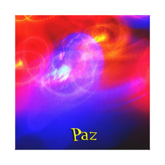 Ausgedehnte Leinwand - Paz - Mehrfarben Galerie Falt Leinwand