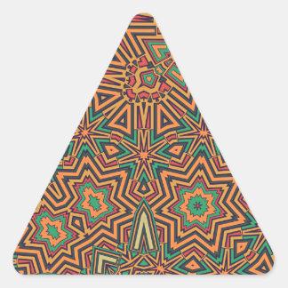 Ausgereiftes orange Retro Dreiecks-Aufkleber