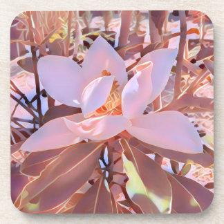 Ausgezeichnetes Magnolien-Untersetzer-Set Getränkeuntersetzer
