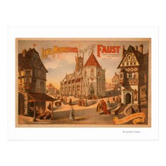 Ausgezeichnetes neues Plakat Fausts Nürnberg Postkarte