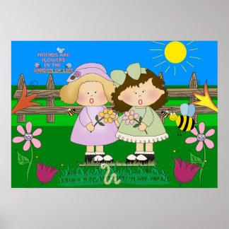 Aushängeschild-Freund-Garten-Kindes Poster