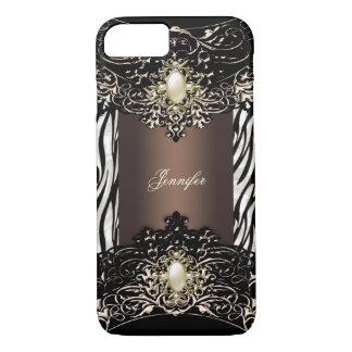 Auslese-Schokoladezebra-Schwarz-Perle Brown 2 iPhone 8/7 Hülle