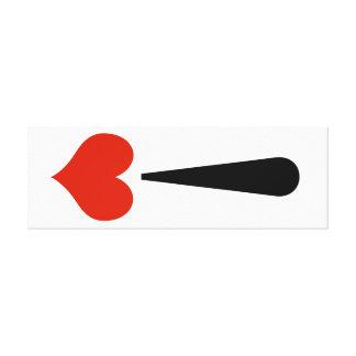 Ausrufs-Liebe! Die Leinwand des Valentines Galerie Gefaltete Leinwand