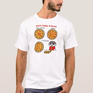 Ausschnitt-Pizza-lustiger T - Shirt