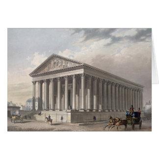 Außenansicht der Madeleines, Paris Grußkarte