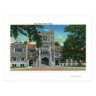Außenansicht von Taylor Hall, Vassar Uni Postkarte