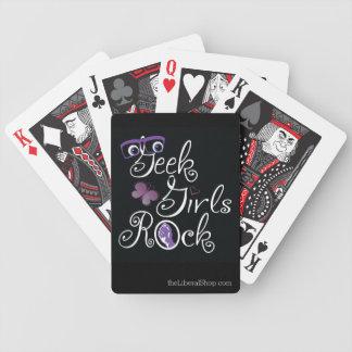Aussenseiter-Mädchen-Felsen Bicycle Spielkarten
