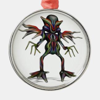 außerirdisch silbernes ornament