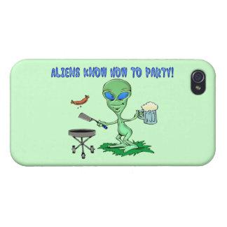 Außerirdische-Party iPhone 4/4S Case