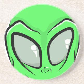 Außerirdischer Cartoon GFX alien UFO Sandstein Untersetzer