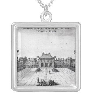 Aussicht des inneren Gerichtes Halskette Mit Quadratischem Anhänger