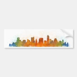 Austin Texas skyline Watercolor v3 Autoaufkleber