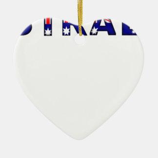 Australien Keramik Herz-Ornament