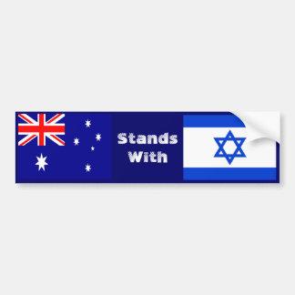 Australien steht mit Israel Autoaufkleber