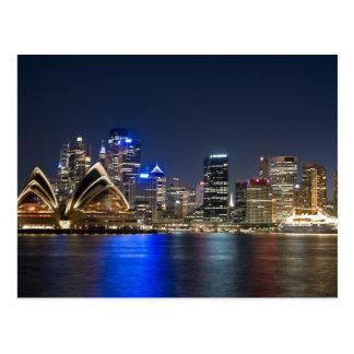 Australien, Sydney. Skyline mit dem Opernhaus Postkarte