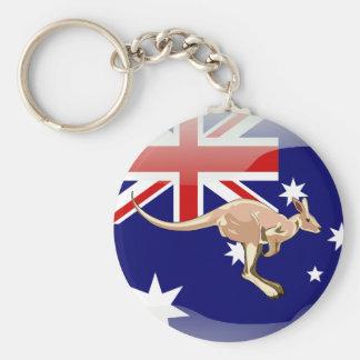 Australische glatte Flagge Schlüsselanhänger
