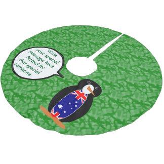 Australischer Feiertags-Herr Penguin Polyester Weihnachtsbaumdecke