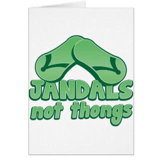 Australischer lustiger Entwurf JANDALS nicht Karte