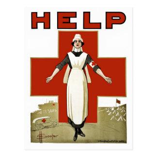 Australischer rotes Kreuz-Vintager Erster Postkarte