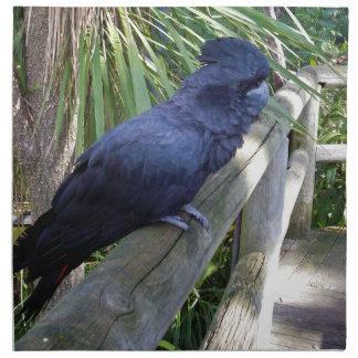 Australischer schwarzer Papagei, Stoffserviette