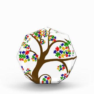 Autismus-Baum des Lebens Acryl Auszeichnung