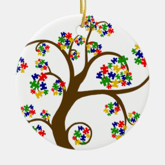 Autismus-Baum des Lebens Keramik Ornament
