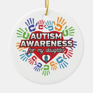 Autismus-Bewusstsein für meine Tochter Keramik Ornament