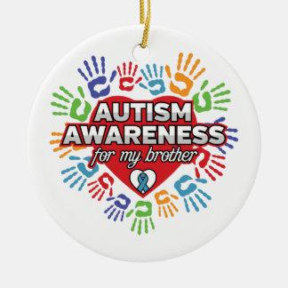Autismus-Bewusstsein für meinen Bruder Keramik Ornament