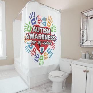 Autismus-Bewusstsein für meinen Neffeen Duschvorhang