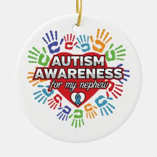 Autismus-Bewusstsein für meinen Neffeen Keramik Ornament