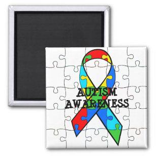 Autismus-Bewusstseins-Puzzlespiel bessert Magneten Quadratischer Magnet
