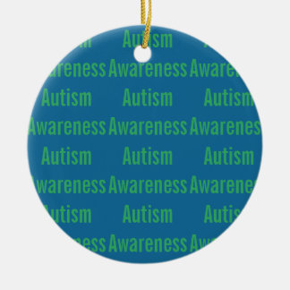 Autismus-Bewusstseins-Verzierung Keramik Ornament