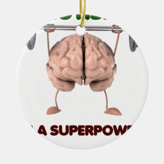 Autismus ist Supermacht, anhebendes Keramik Ornament